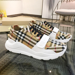 Wholesale Fashion Sneakers for Men Large Size Breathable Casual Sports Shoes Tide Summer Flat Sneakers Herren Sportschuhe Vintage Check Cotton Sneaker
