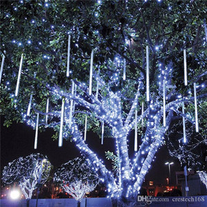 Wholesale white shower curtains resale online - Outdoor cm cm CM meteor shower tube LED string lights waterproof for Christmas wedding decoration