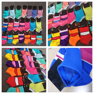 Fashion Quick Dry Adult Socks Unisex Short Sock Cheerleader Sports Socks Teenagers Ankle Socks Multicolors With Package