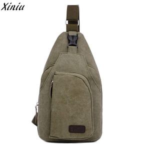 Wholesale Mens Casual Canvas Unbalance Backpack Crossbody Shoulder Bag Chest Bag Pouch Shoulder Bags Sling New