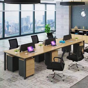 Wholesale computers chairs resale online - Factory custom made Modern combination simple staff office computer desk table open working Office chair furniture
