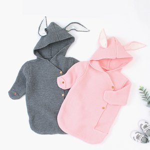 Wholesale new baby sleep bags for sale - Group buy 2020 Autumn Winter New Baby Boy Girl Knitted Sleeping Bag Clothes Infant Baby Boy Girl Hold Blanket Sleeping Bag