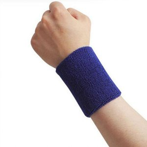 Wholesale Hot Pair cm Wrist Support Long Cotton Absorbent Wristguard Basketball Tennis Wrist Bracer Cuff Support Protective Band