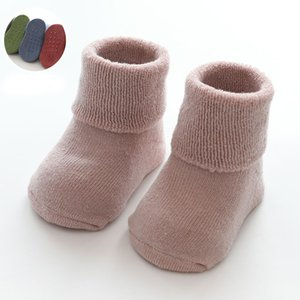 Warm Winter Baby Socks Cute Newborn Baby Girls Socks Solid Terry Infant Baby Boy Shoe Sock Boots Children on Sale