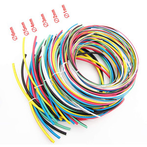 Wholesale heat shrink tubing resale online - 66 Meters Colors Shrinkable Wrap Wire Cable Tubing Sleeves Heat Shrink Tubes Assortment Kit