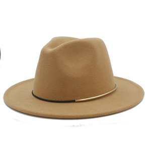 Fashion Wool Women Outback Fedora Hat For Winter Autumn Elegant Lady Floppy Cloche Wide Brim Jazz Caps Size 56-58CM K40