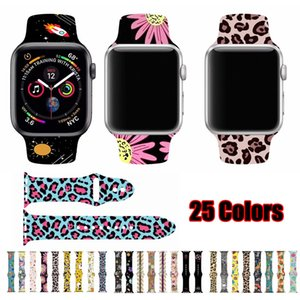 Wholesale Printing Style Soft Silicone Watchband for Apple watch Series4 mm mm Replacement Bracelet Band Strap for iWatch mm mm
