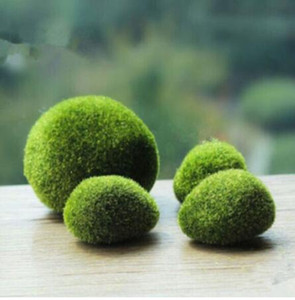Wholesale stone walls for sale - Group buy artificial green moss ball fake stone simulation plant DIY decoration for shop window hotel home office plant wall decor