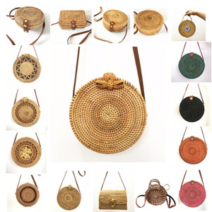 Rattan Bags Handbags For Women Bali Bohemian Summer Beach Bag Fashion Hot Shoulder Crossbody Round Bolsa Straw Bag on Sale