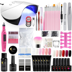 Wholesale polish nails resale online - 36W UV LED Nail Lamp Dryer Nail Kits Electric Drill Manicure Set Gel Polish Art Tools