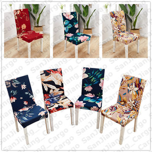 Wholesale dining chairs covers resale online - 40 Designs Flora Printing Chair Covers Elastic Slipcover Removable Chair Cover Stretch Dining Seat Covers Banquet Wedding Decoration E31402