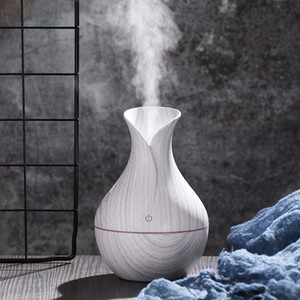 Wholesale essential oil for aroma diffuser for sale - Group buy USB Ultrasonic Air Humidifier Wood Grain Aroma Essential Oil Diffuser with Colors LED Light for Home Office