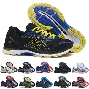 Wholesale 2019 New GEL Nimbus Stability Breathable running shoes for men black white blue red mens trainer fashion sports sneakers runner
