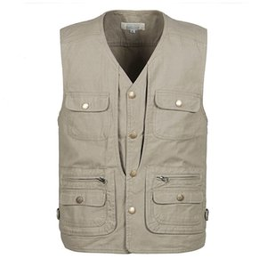 Wholesale Outdoor Fly Fishing Vest Life Jackets Breathable Men Jacket Photograph Vest Male Hiking Hunting Fishing Waistcoats GA136