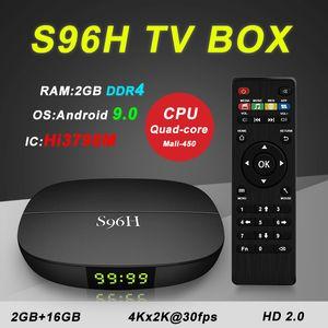 Hot S96H Android 9.0 TV Box DDR4 2GB 16GB Hi3798M WiFi 4K Set Top Box Updated X96 MINI