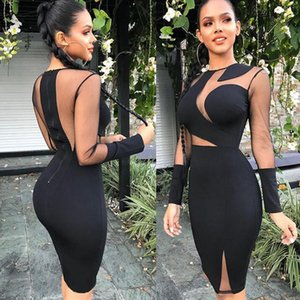 Wholesale Club Dress Women Designer Clothes Brand New Fashion Sexy Women Lady Bandage Bodycon Casual Solid Party Cocktail Club Mini Dress