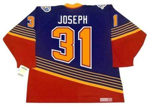 Wholesale CURTIS JOSEPH St. Louis Blues 1994 CCM Vintage Turn Back Away Hockey Jersey All Stitched Top-quality Any Name Any Number
