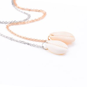 European and American necklaces extremely simple natural series natural shell short necklace clavicle chain jewelry wholesale