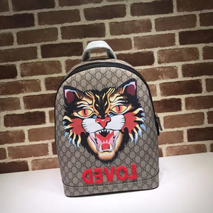 2019 Top Quality Celebrity design Letter embossed Tiger Snake Bee animal canvas leather Backpack Man Woman 419584 Canvas Travel bag on Sale