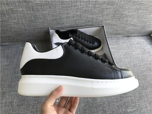 Wholesale 2019 Mens Womens Fashion Luxury Classic Shoes Leather Platform Sneaker Flat Lightweight Comfort Casual Dress Skateboarding Shoes Sneakers