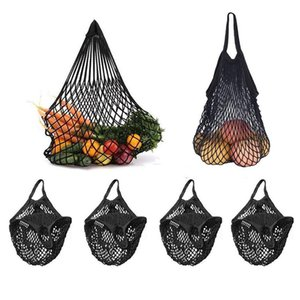 Wholesale 4 Pack Reusable Mesh Net Market String Bag Organizer Multipurpose Portable Shopping Tote Handbag for Grocery Shopping Out
