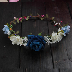 Wholesale Artificial Flowers Rose Wreaths Colors Flower Crown Exquisite Festival Supplies Wedding Bride Bridesmaid Fashion Hair Wreath cxaE1
