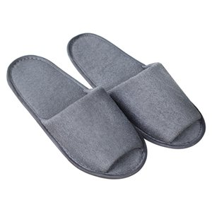 Men Women House Solid Breathable Slippers Travel Spa Non Disposable Portable Indoor Soft With Storage Bag Guest Foldable Hotel