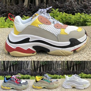 Designer Triple S Casual shoes Black white red Thick-soled flat shoes Luxury Paris Platform Old Dad tennis Height Increasing Sneaker