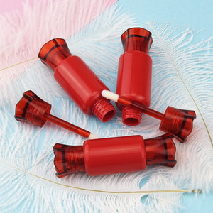 4Pcs Candy Shape Empty Clear Lip Gloss Container Portable DIY Lip Liquid Lipstick Samples Tube Dispenser Refillable Bottle