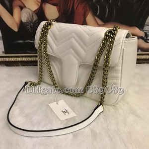 Hot Sale Marmont Shoulder Bags Women Chain Crossbody Bag Handbags New Designer Purse Female Leather Heart Style Message Bag #8982 on Sale