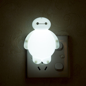 Wholesale Creative and funny plug in cute big white night light stall LED cartoon switch night light