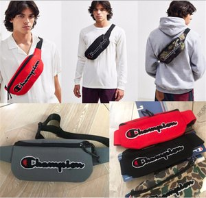 Wholesale 2019 Champions Printed Embroidery Canvas Waist Bag Unisex Brand Fashion Cross Body Mini Bags Chest Bag Travel Shopping Waist Packs B3141