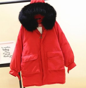 Wholesale Winter Clothing New Korean Style Long Parka Women Large Hair Collar Pocket Loose Oversize Warm Bread Coat Padded Cotton padded