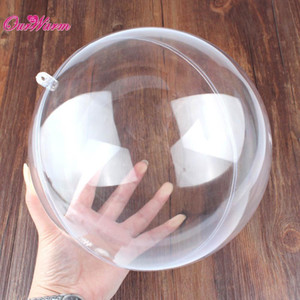 Wholesale 20pcs mm Clear Plastic Ball Acrylic Transparent Ball for Wedding Favors Candy Box Party Supplies Christmas Tree Decoration