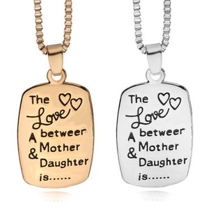 Wholesale mother daughter pendants necklaces for sale - Group buy New Arrival Snap Jewelry The Love between A Mother Daughter is Letters Pendant Chain Necklaces For Women colors ZJ