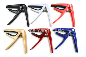 Niko Colorful Plastic Ukulele Guitar Capos Clamp Key Change Black White Red Blue Pink Beige 6 Colors