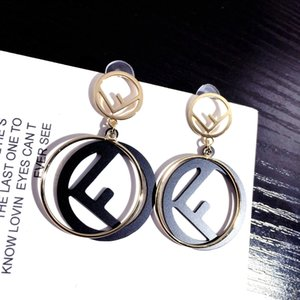Wholesale Cute Letter Earrings Nightclub Queen Alloy Women s Earrings Outdoor Party Wild Designer Earrings Hot Sale