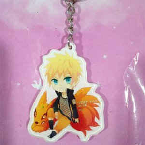 Wholesale Anime Naruto Peripheral Keychain Double sided Acrylic Pendant Cute Cartoon Naruto Sasuke Character Pendant Fan Commemorative Accessories