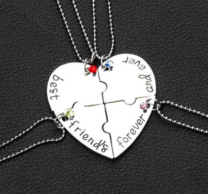 Wholesale New Hot Selling best friends forever good friend jewelry Love together female clavicle chain pendant