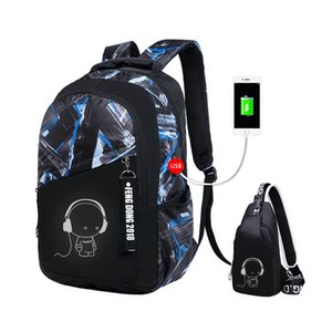Wholesale 2019 boys school bags waterproof large backpack for teenagers bagpack high school backpack for boy student casual travel bag