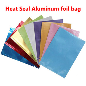 Wholesale PE Colorful Heat Seal Aluminum Mylar Foil bag Smell Proof Pouch Closet Organizer Kitchen Accessories Home Decor Craft Supplies