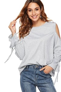 Wholesale Basic Plain Round Crew Neck Tee Shirts Stretch Long Sleeve Top T Shirts