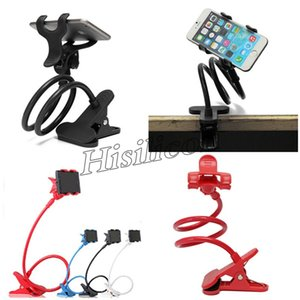 Wholesale Cheapest Durable Flexible Long Arms Lazy Bed Desktop Mobile Phone Holder Bracket Stands for Iphone7 plus X XR Samsung for Smartphone DHL