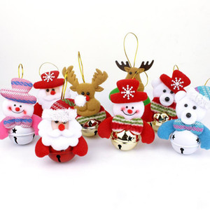 Wholesale 2019 New Christmas Santa Claus Snowman Bear Elk Styles Exclusive Super Cute Christmas Decoration Tree Decorations Festival Toy Free Ship