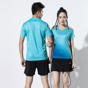 Wholesale New Badminton clothes Men Women sports badminton suits Tennis clothes Tennis sets shirt shorts skirts