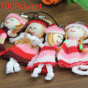 Wholesale 100Pcs cm Kids Toys Soft Interactive Baby Dolls Key Chain Doll Ethnic Dolls Mini Doll Keychain For Boys And Girls