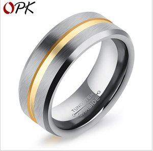 Wholesale New jewelry simple retro gold tungsten steel ring man