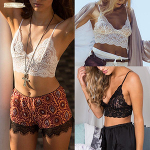 Wholesale Floral White Black Lace See Through Bustier Bralet Bra Bralette Cami Tank Crop Tops Soft Sexy Women Lace Bralet Bra