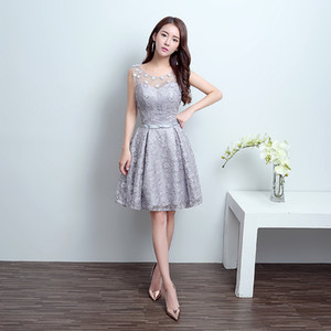 Wholesale print sleeveless graduation dress short skirt transparent multi-layer skirt with waist decoration sexy ballgown robes de soirée