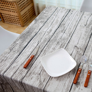 Wholesale a Retro simulation wood table cloth cotton fabric bark cloth tablecloth table photography background